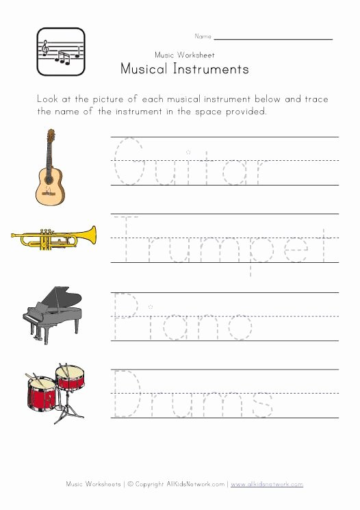 Piano Worksheets for Preschoolers Kids Music Worksheets for Kids