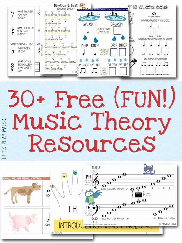 Piano Worksheets for Preschoolers Lovely Free Resources Free Sheet Music and theory Printables