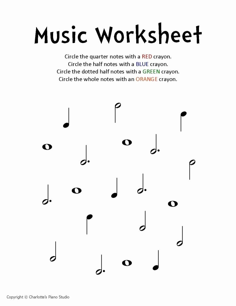 Piano Worksheets for Preschoolers top Music Worksheet Charlottes Piano Studio Lessons In West