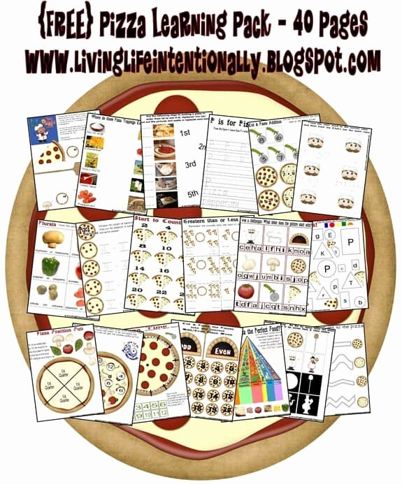 Pizza Worksheets for Preschoolers Free Pizza Worksheets for Kids