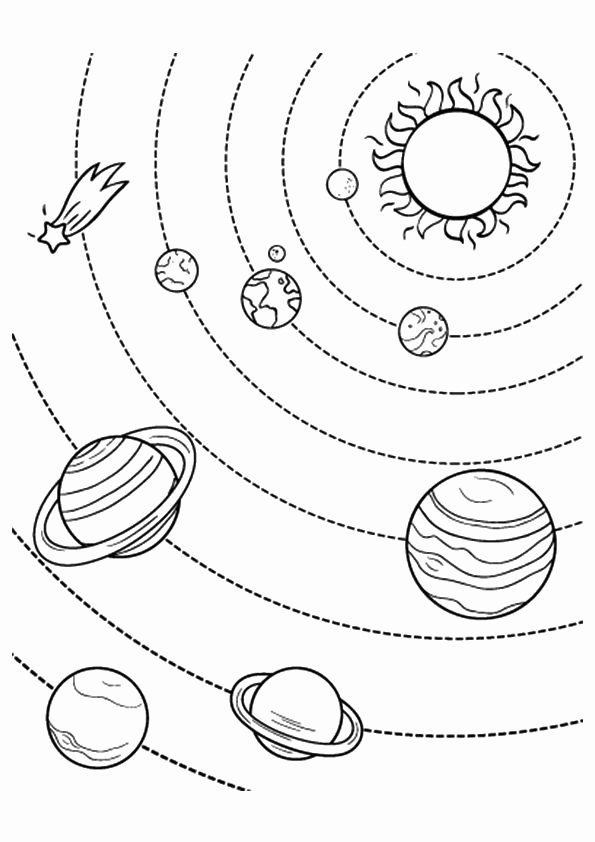 Planet Worksheets for Preschoolers Fresh Free Printable solar System Coloring Pages for Kids