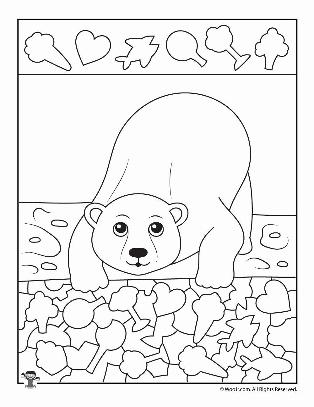 Polar Animal Worksheets for Preschoolers Kids Polar Bear I Spy Printable Worksheet