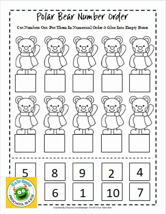 Polar Bear Worksheets for Preschoolers Free Polar Bear Math Printables for Preschoolers to Teach Math