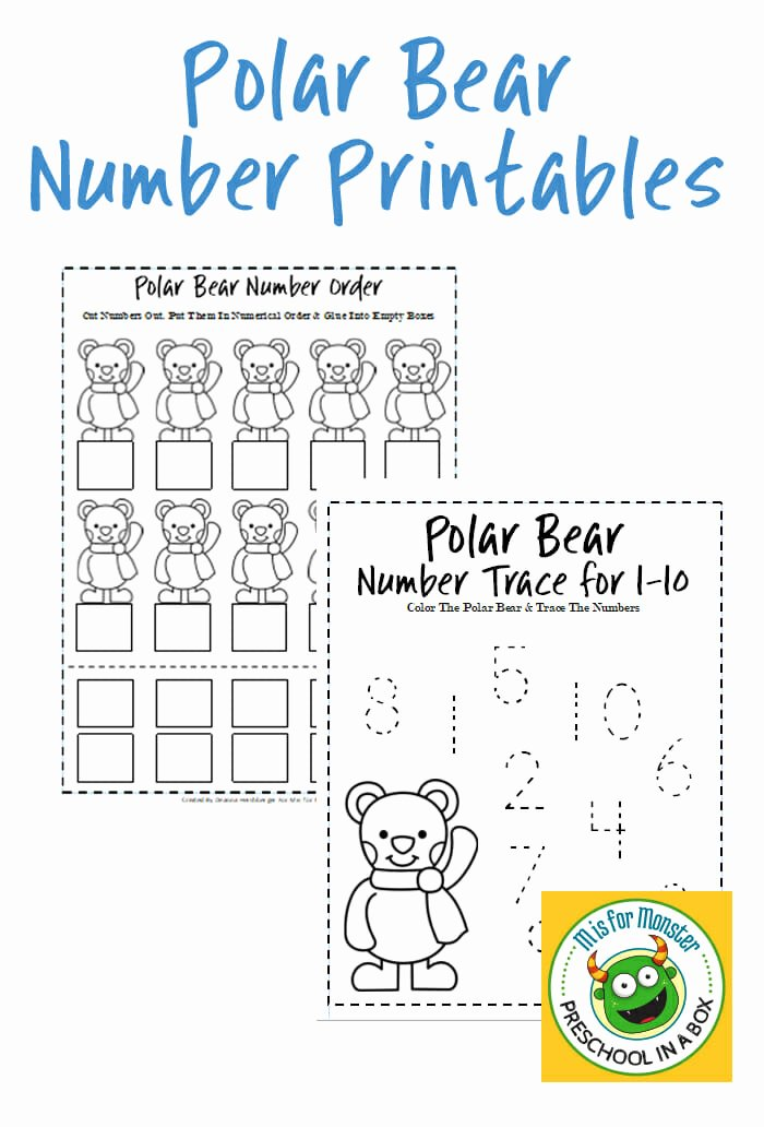 Polar Bear Worksheets for Preschoolers Fresh Polar Bear Math Printables for Preschoolers to Teach Math