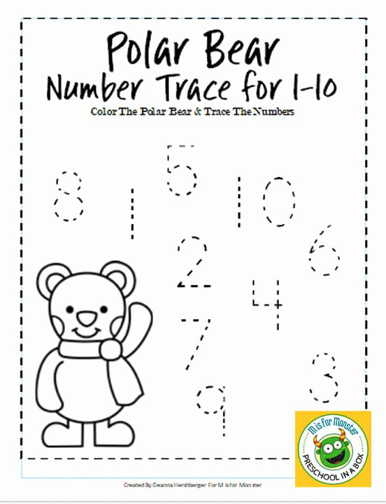 Polar Bear Worksheets for Preschoolers Lovely Polar Bear Math Printables for Preschoolers to Teach Math