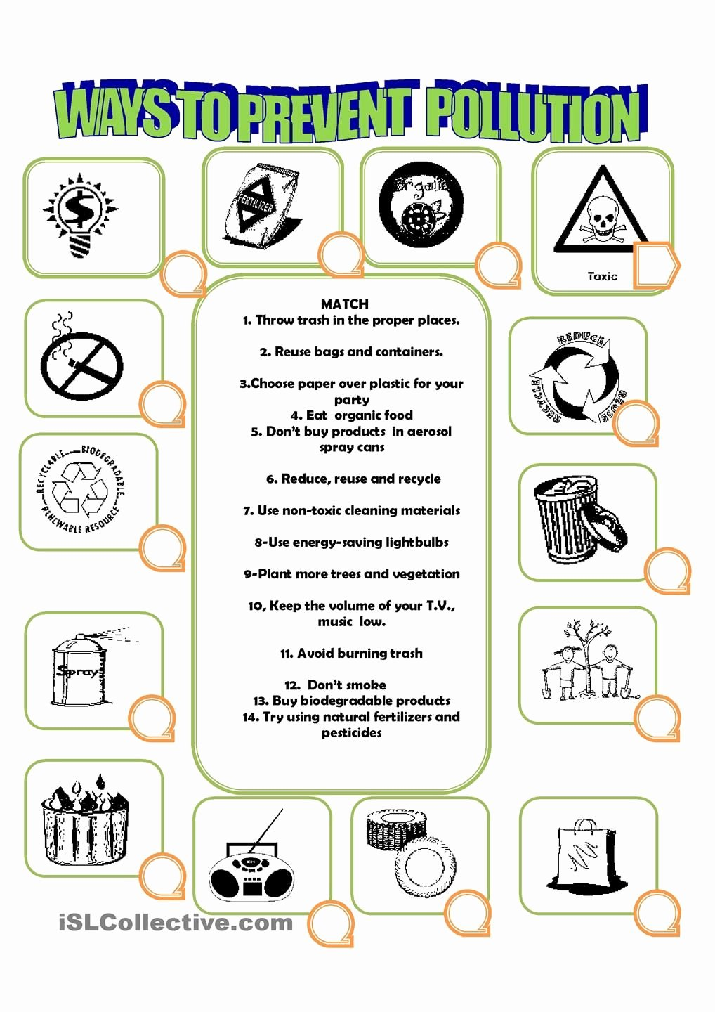 Pollution Worksheets for Preschoolers Ideas How to Prevent Pollution