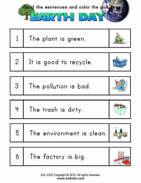 Pollution Worksheets for Preschoolers top Earth Activities Games and Worksheets for Kids Esl Students