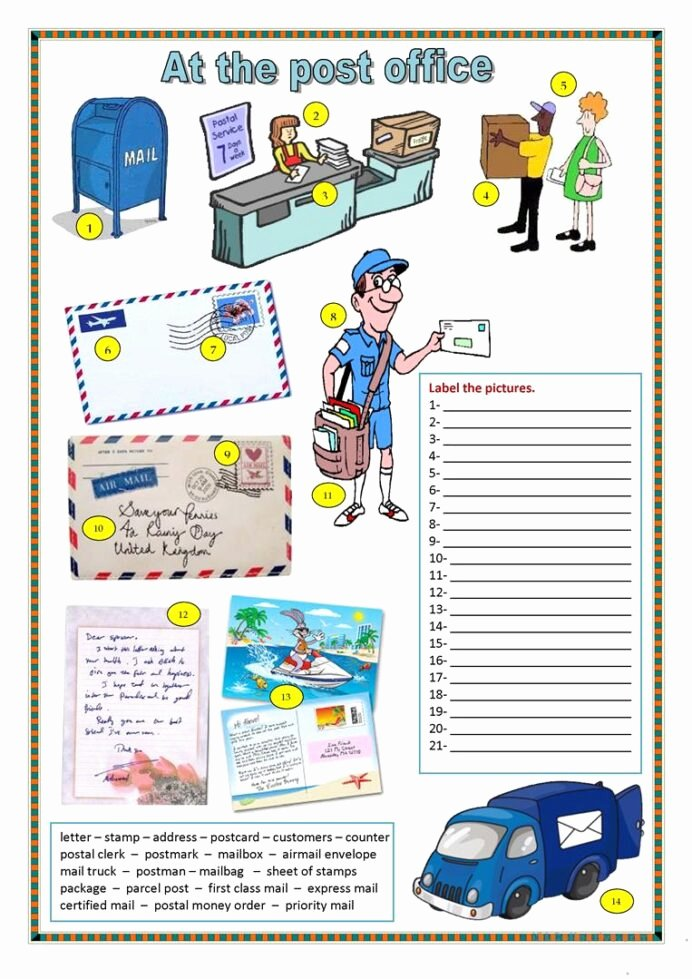 Post Office Worksheets for Preschoolers Fresh Post Fice and Mailing Activities for Preschool Pre Free