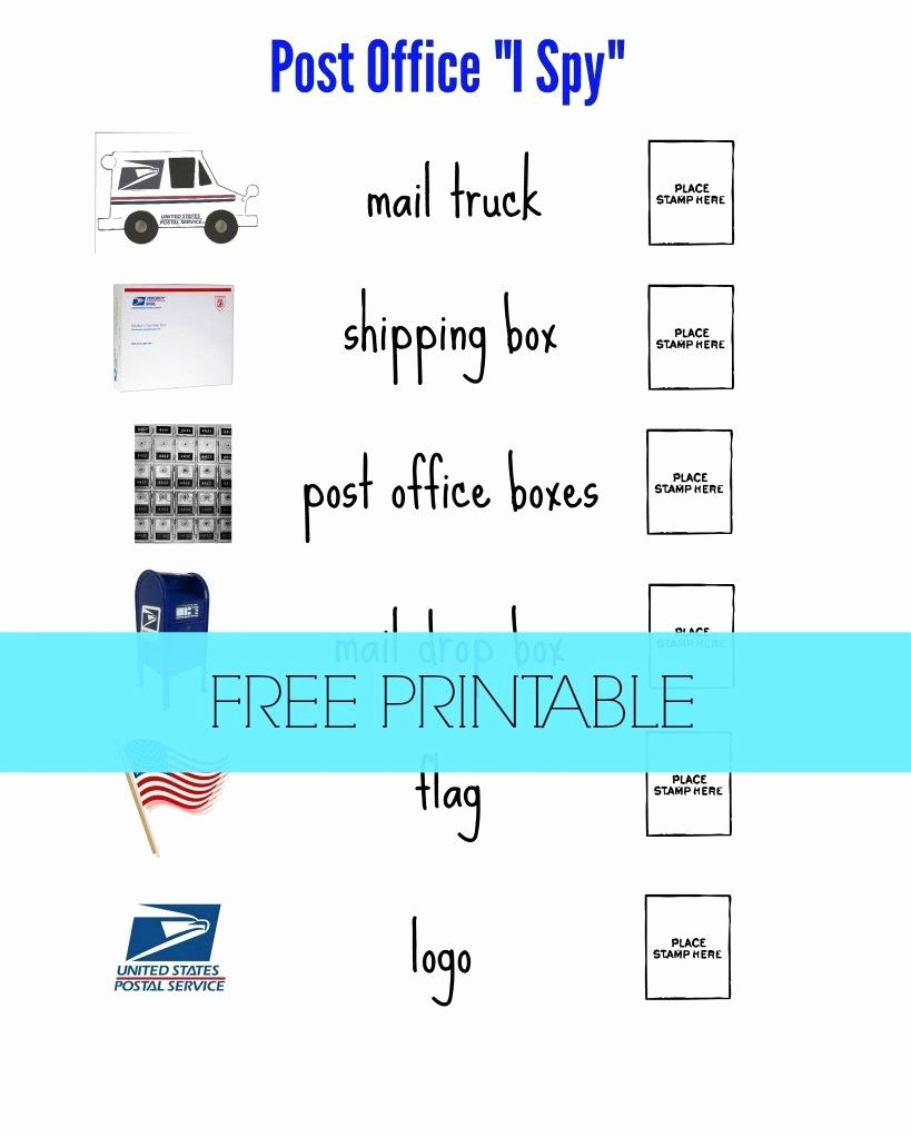 "Post Office Worksheets for Preschoolers Ideas Post Fice ""i Spy"" for Preschoolers"
