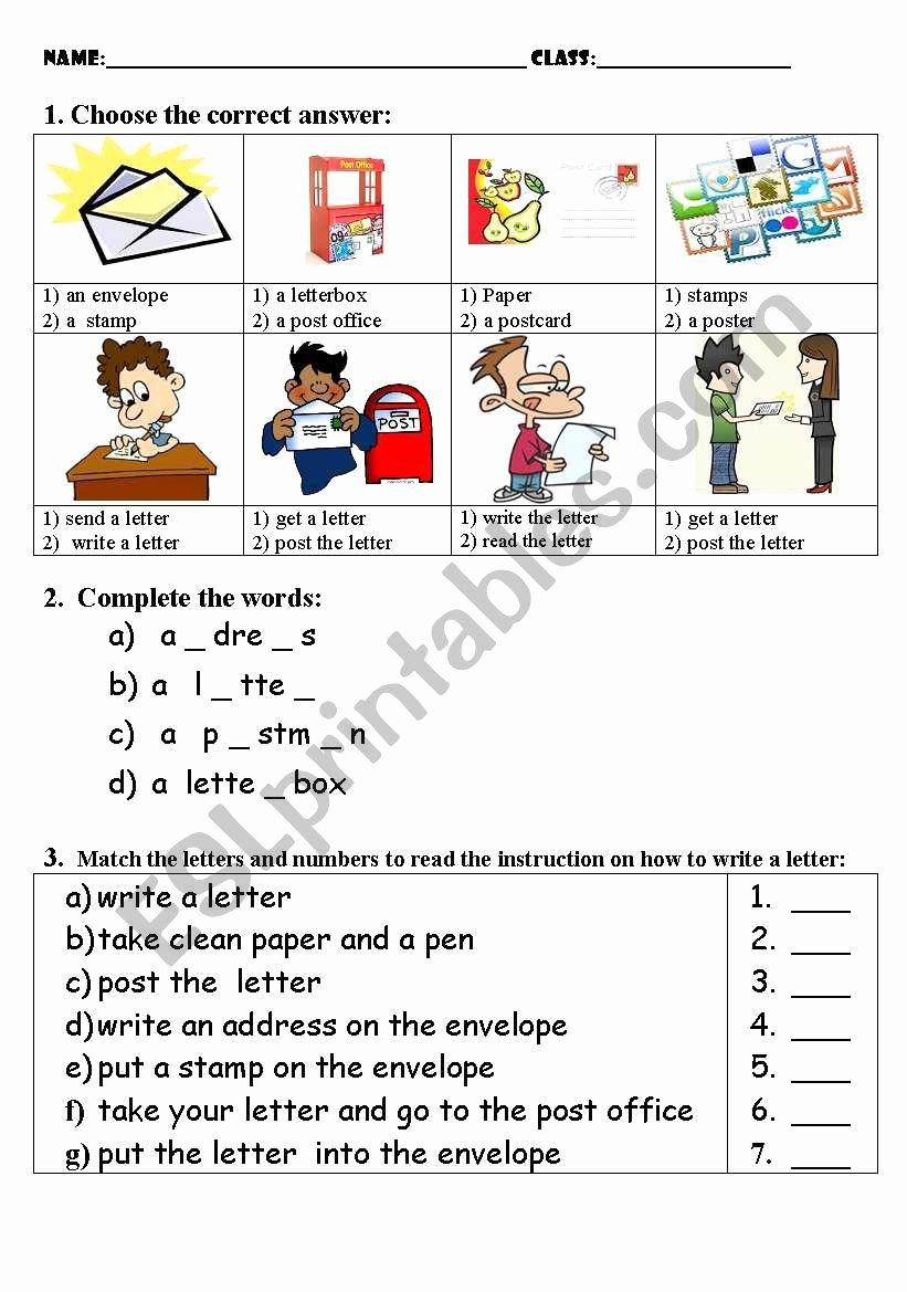 Post Office Worksheets for Preschoolers New Post Fice Test Esl Worksheet by Umnica Razumnica Free