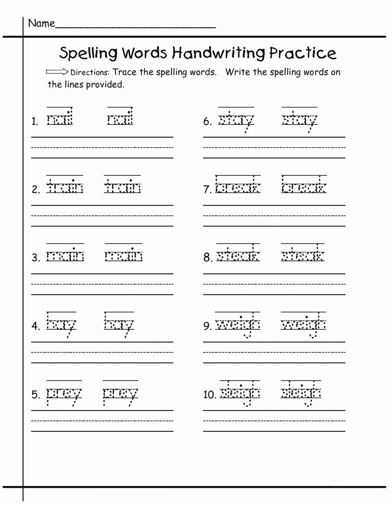 Practice Handwriting Worksheets for Preschoolers Fresh Worksheets Kindergarten Handwriting Worksheets Free