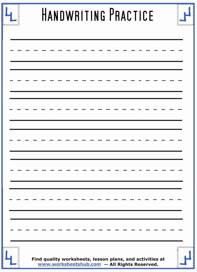 Practice Handwriting Worksheets for Preschoolers Ideas Handwriting Sheets Printable Lined Paper Practice Worksheets