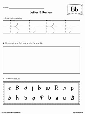 Practice Letter Worksheets for Preschoolers New Letter B Practice Worksheet