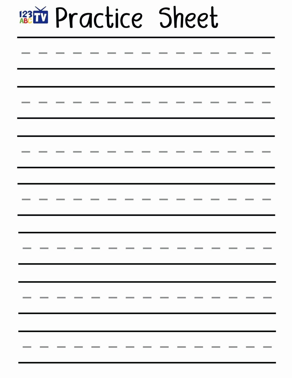 Practice Writing Worksheets for Preschoolers Free Worksheet Handwriting Sheets Maker Barka Free Printable