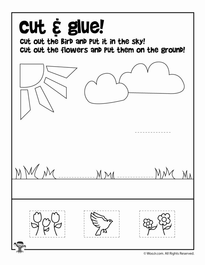Pre K Printable Cutting Worksheets for Preschoolers Best Of Summer Preschool Worksheets Pre Cut and Paste Kumon Level