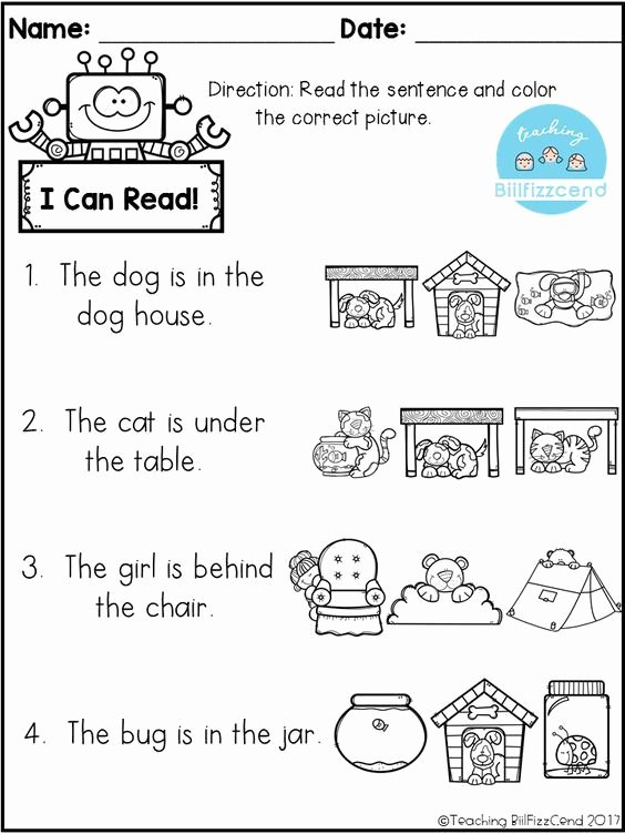 Pre Reading Worksheets for Preschoolers Fresh Free Reading Prehension Check Pre Worksheets Five