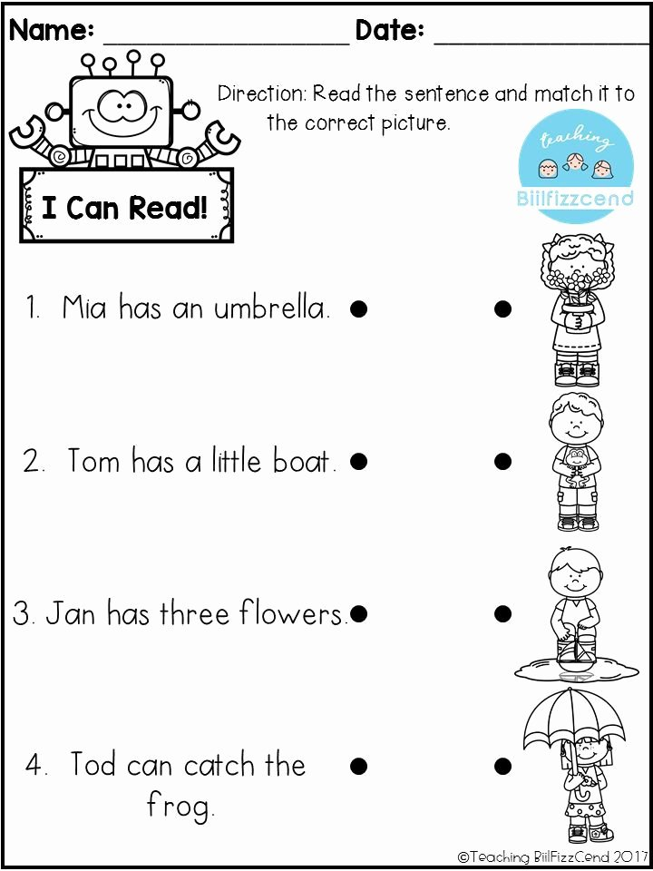 Pre Reading Worksheets for Preschoolers Kids Free Reading Prehension Check Worksheets Pre Literacy