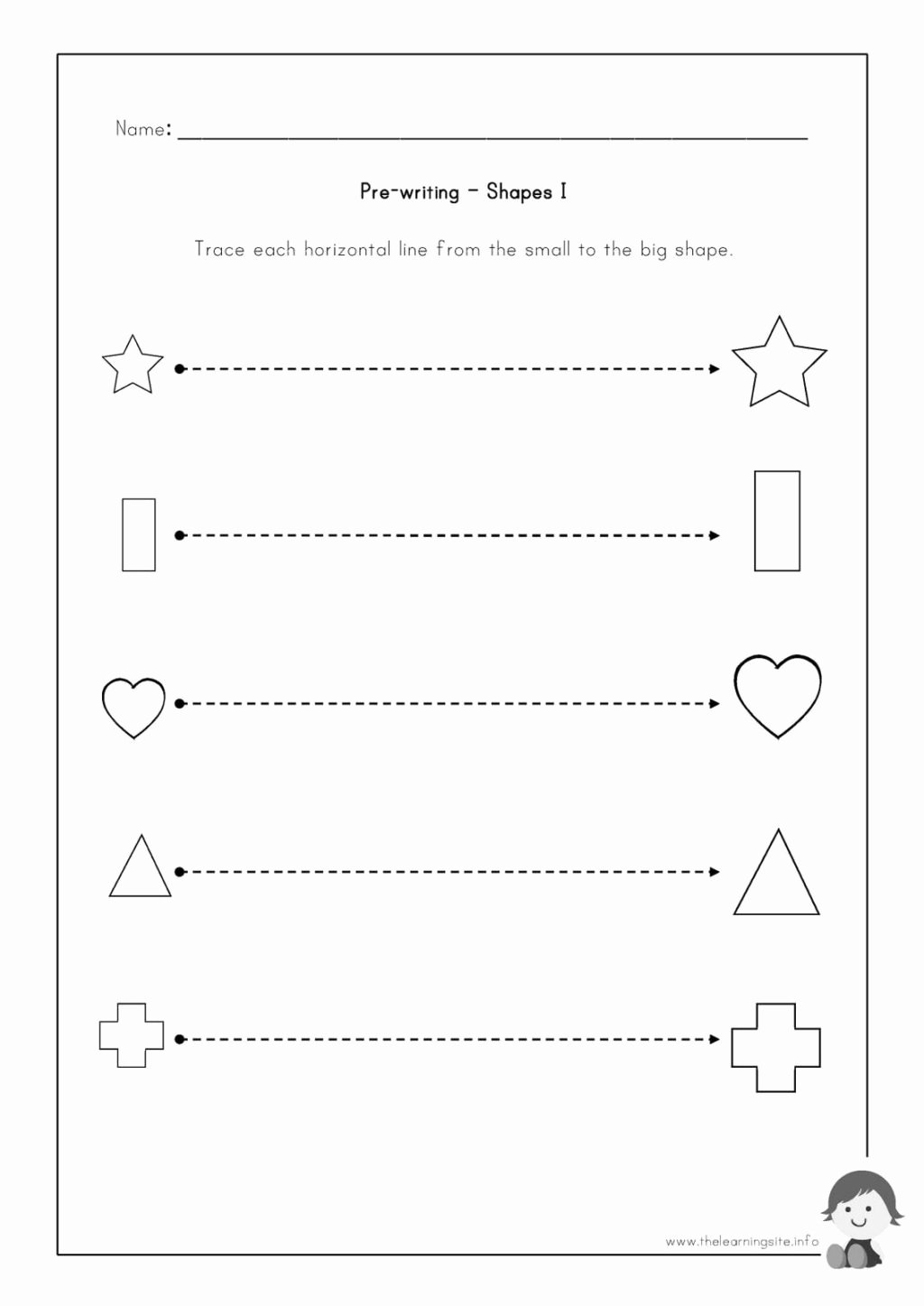 Pre Writing Worksheets for Preschoolers top Worksheet Pre Writing Worksheets to Educationsee Novel