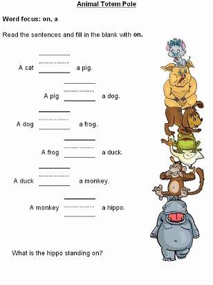 Preposition Worksheets for Preschoolers Best Of Free Printable Preposition Worksheets for Preschoolers
