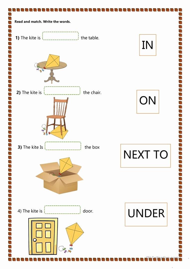 Preposition Worksheets for Preschoolers Best Of Prepositions Of Place Kids English Esl Worksheets for