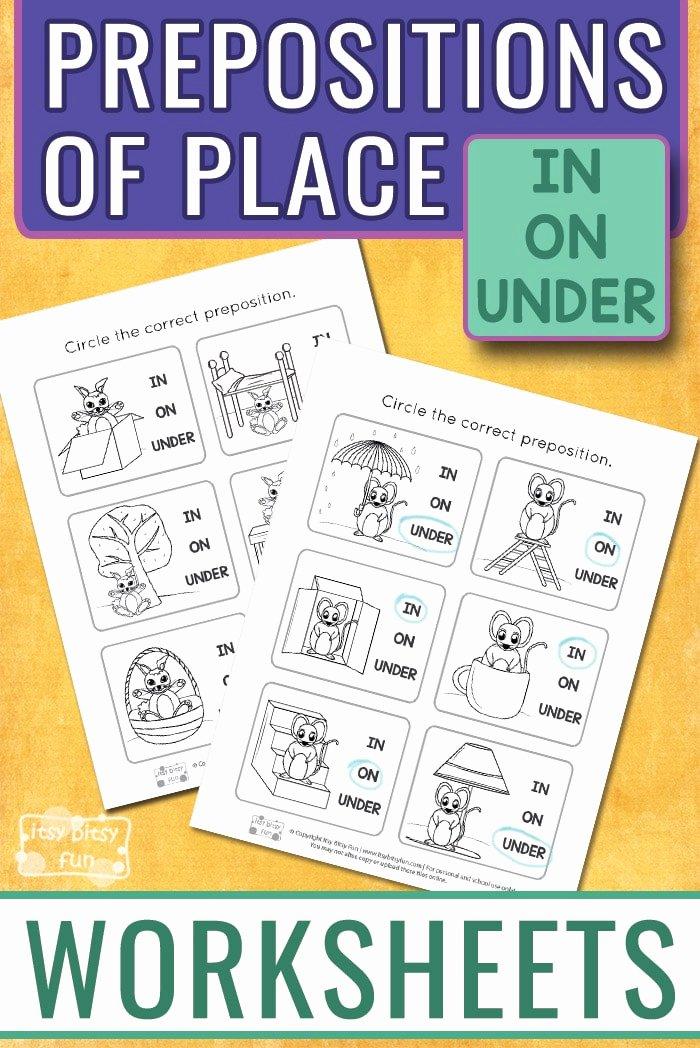 Preposition Worksheets for Preschoolers Inspirational Prepositions Worksheets Itsybitsyfun