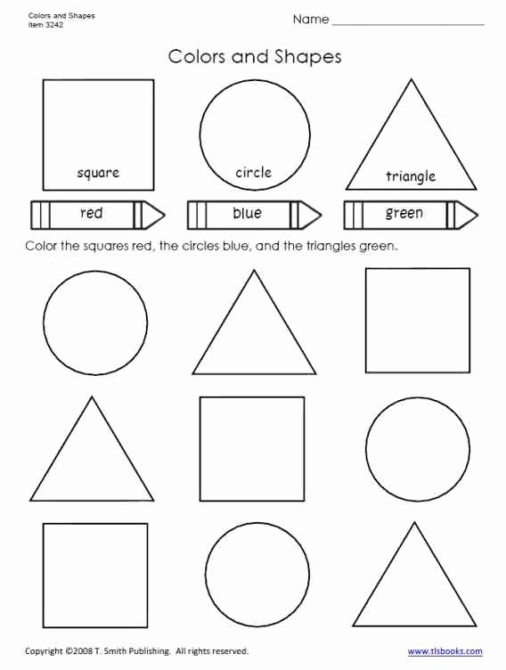Primary Colors Worksheets for Preschoolers top Colors and Shapes Worksheet for Primary Grades Preschool