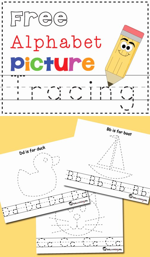 Printable Alphabet Tracing Worksheets for Preschoolers Inspirational Free Alphabet & Picture Tracing Printables