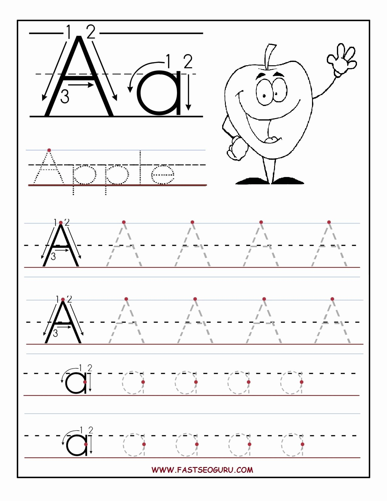 Printable Alphabet Tracing Worksheets for Preschoolers New Free Printable Activities for Preschoolers