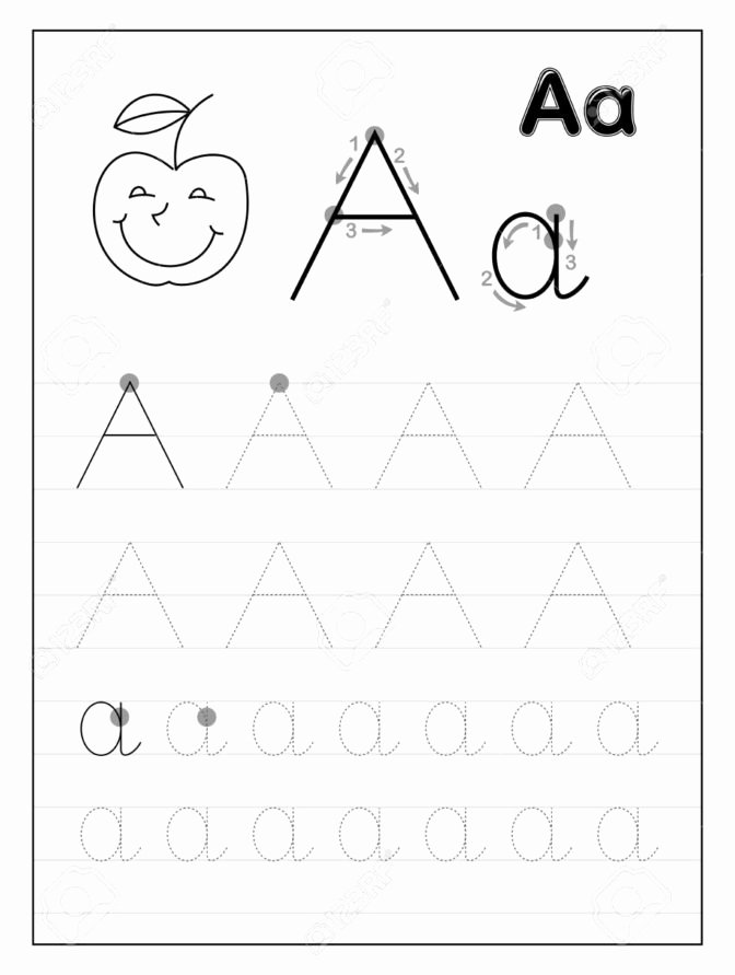 Printable Alphabet Tracing Worksheets for Preschoolers top Coloring Pages Math Worksheet Preschool Letter Worksheets