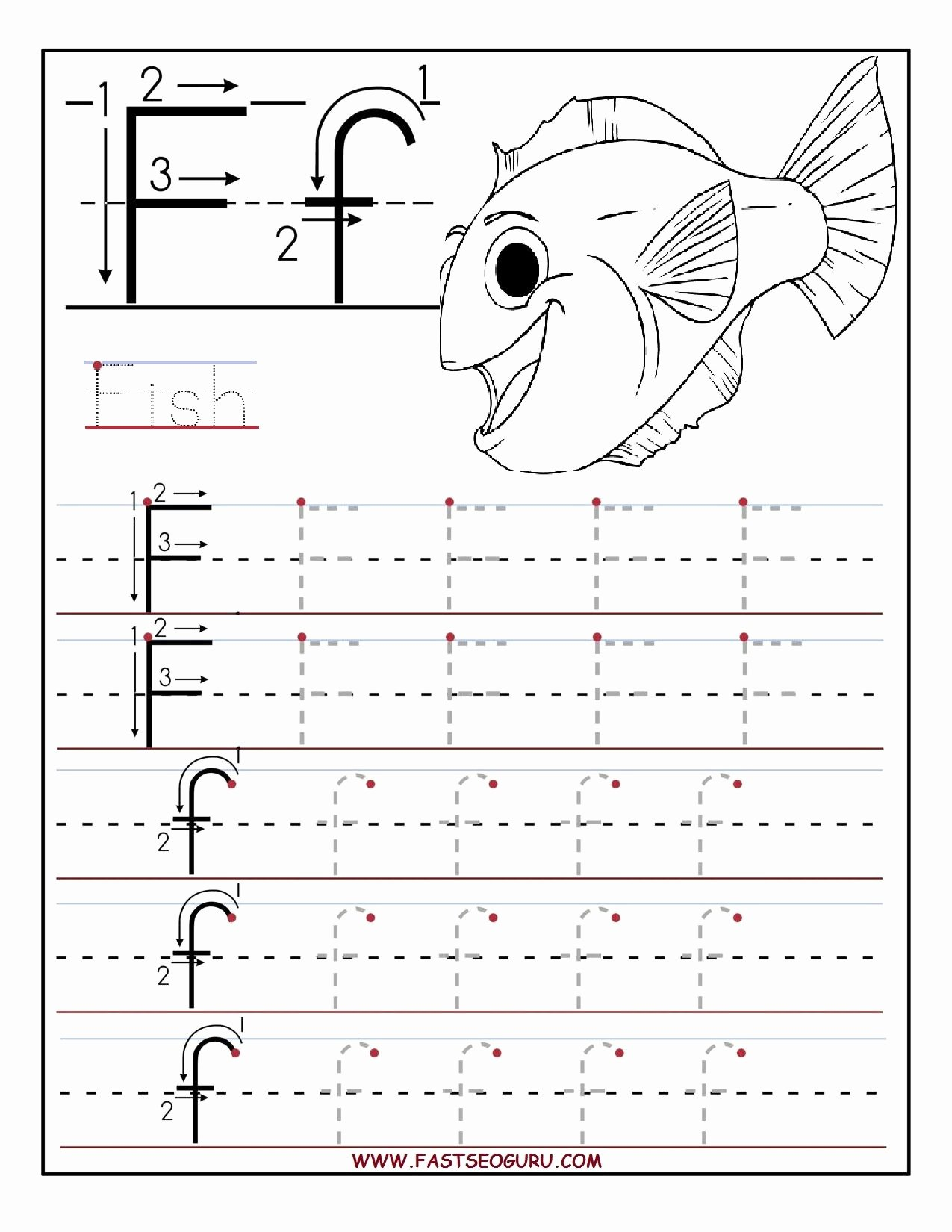 Printable Alphabet Worksheets for Preschoolers Ideas Printable Letter F Tracing Worksheets for Preschool