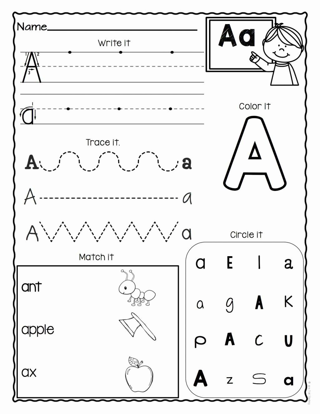 Printable Alphabet Worksheets for Preschoolers Printable Worksheet Alphabet Worksheets for Kindergarten