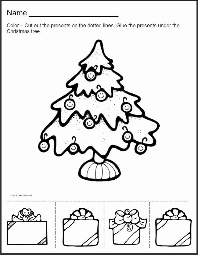 Printable Christmas Worksheets for Preschoolers Best Of Paper Gifts Printable Christmas Games