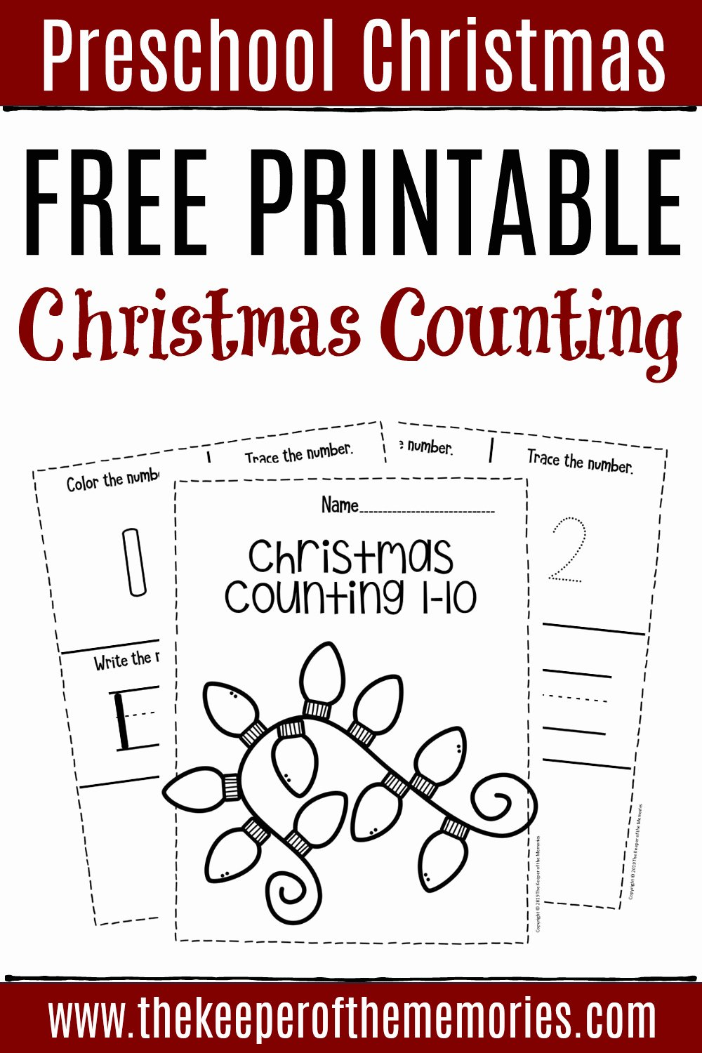Printable Christmas Worksheets for Preschoolers Fresh Free Printable Numbers Christmas Preschool Worksheets