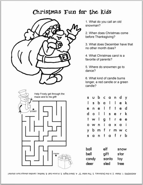 Printable Christmas Worksheets for Preschoolers Ideas Free Christmas Kids Activity Sheets and Coloring Sheets