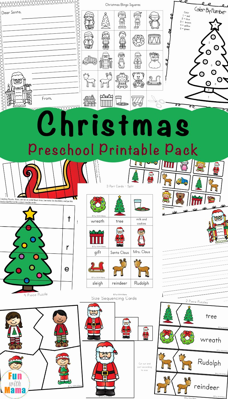 Printable Christmas Worksheets for Preschoolers Lovely Free Printable Christmas Worksheets Fun with Mama