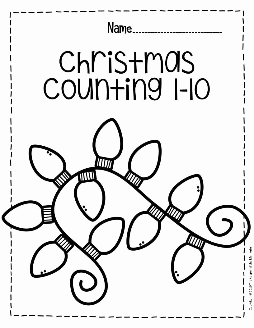 Printable Christmas Worksheets for Preschoolers top Free Printable Numbers Christmas Preschool Worksheets