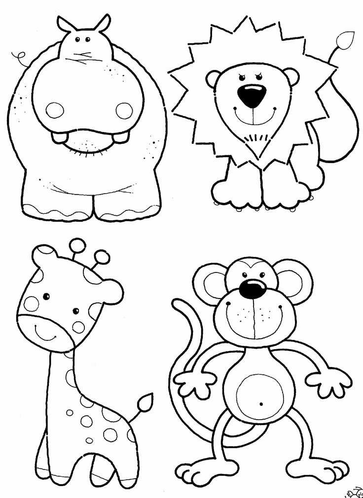Printable Coloring Worksheets for Preschoolers Kids Coloring Pages Animals