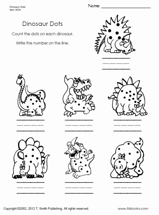 Printable Dinosaur Worksheets for Preschoolers Inspirational Dinosaur Dots