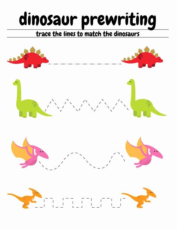 Printable Dinosaur Worksheets for Preschoolers top Free Dinosaur Preschool Worksheets – the B Keeps Us Honest