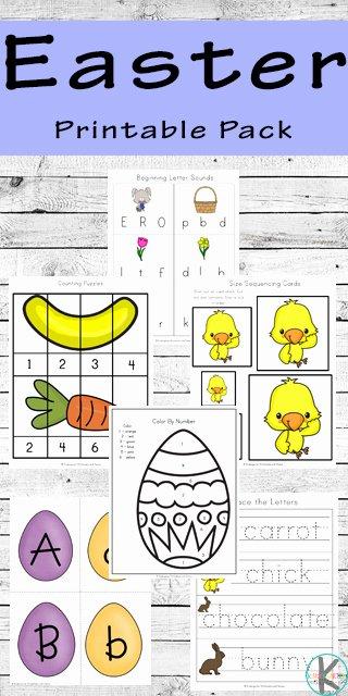 Printable Easter Worksheets for Preschoolers Ideas Free Easter Printable Pack