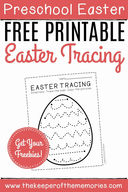 Printable Easter Worksheets for Preschoolers Lovely Free Printable Tracing Easter Preschool Worksheets the