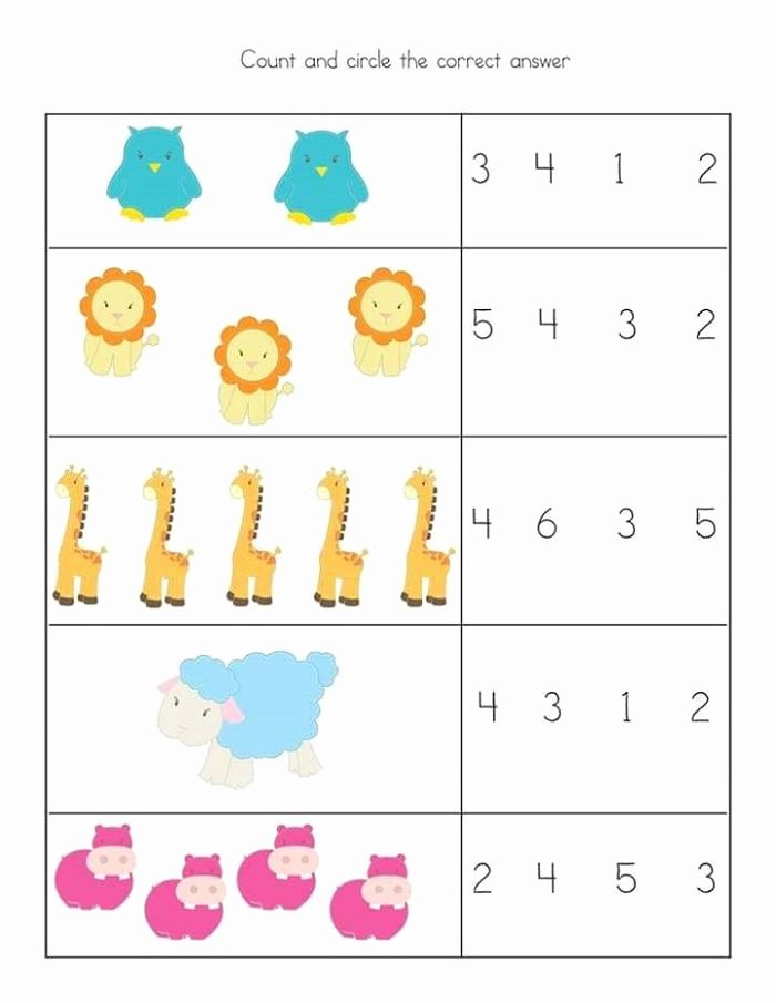 Printable Fraction Worksheets for Preschoolers Inspirational Free and Printable toddler Worksheets Kids Math Simple for