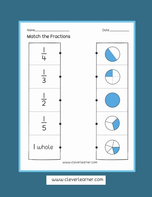 Printable Fraction Worksheets for Preschoolers Inspirational Fun and Free Activity Sheets On Fractions for Children