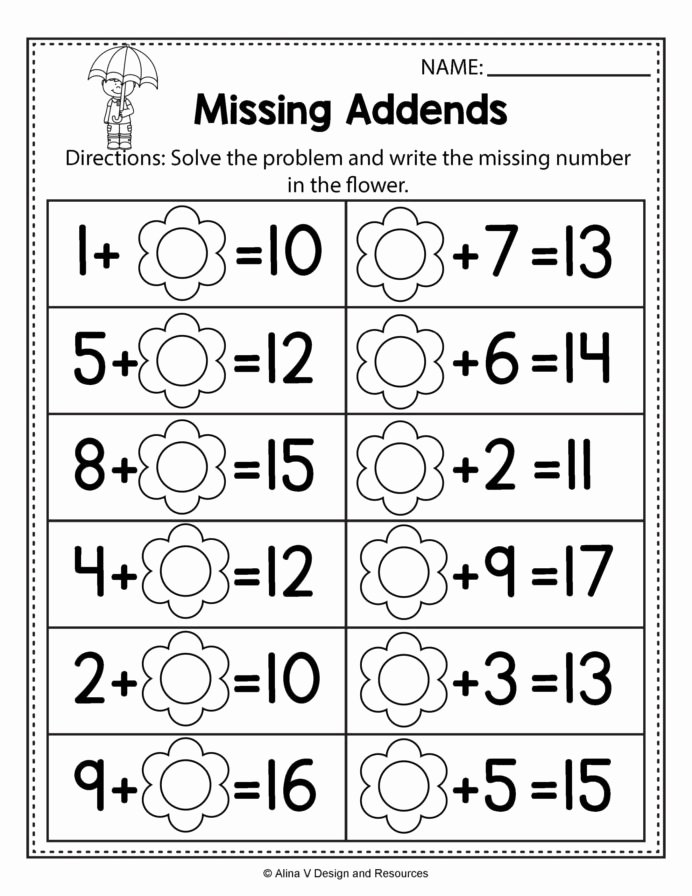 Printable Fraction Worksheets for Preschoolers top Spring Math Worksheets for Preschoolers Worksheet Learn