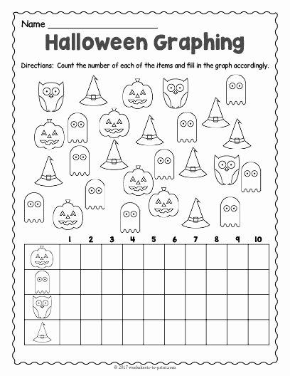 Printable Halloween Worksheets for Preschoolers Best Of Free Printable Halloween Graphing Worksheet Worksheets 2nd