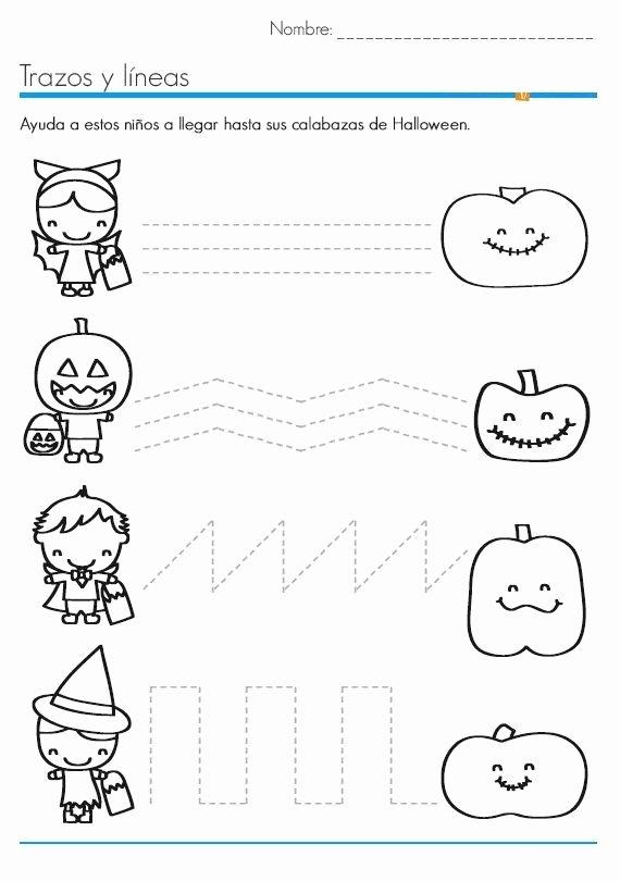 Printable Halloween Worksheets for Preschoolers Inspirational Tracing Lines Halloween Worksheets