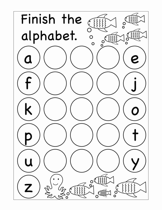 Printable Letter A Worksheets for Preschoolers Fresh Winter Missing Letters Kindergarten Worksheet Printable