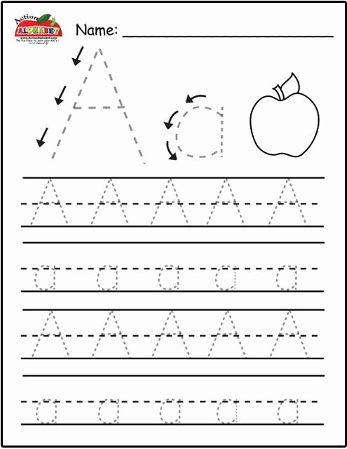 Printable Letter A Worksheets for Preschoolers Printable Free Trace Alphabet Letters Printable Worksheets for