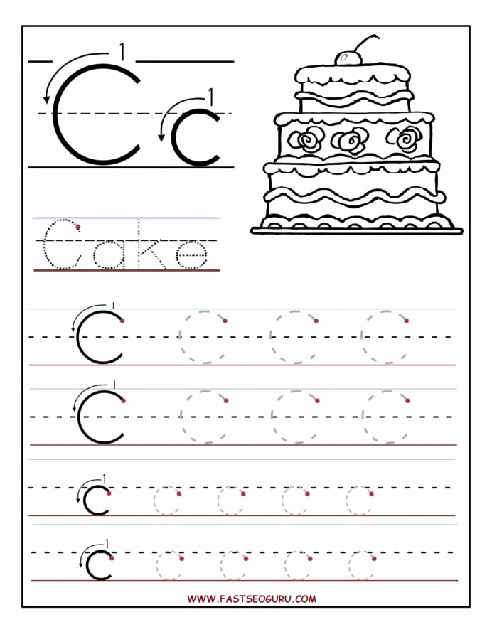 Printable Letter Tracing Worksheets for Preschoolers Free Printable Letter Tracing Worksheets for Preschool Math