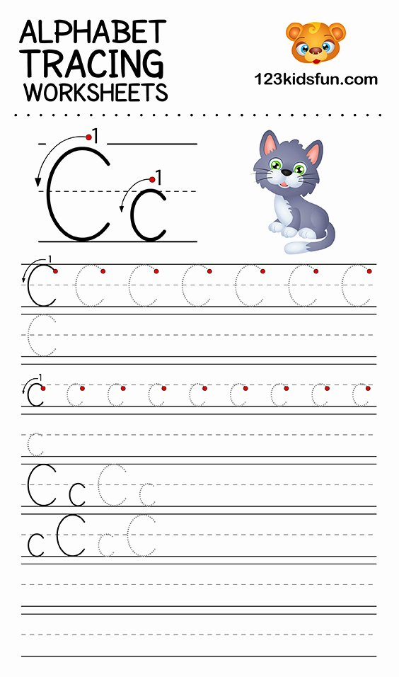Printable Letter Tracing Worksheets for Preschoolers Kids Alphabet Tracing Worksheets A Z Free Printable for Kids